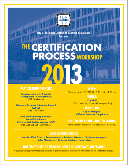 City of Memphis Certification Workshop 2013