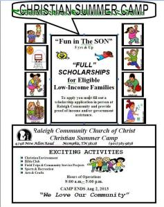 Raleigh Community COC Summer Camp