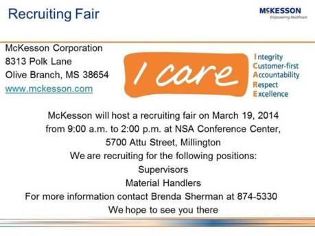 Mckesson Recruiting Fair