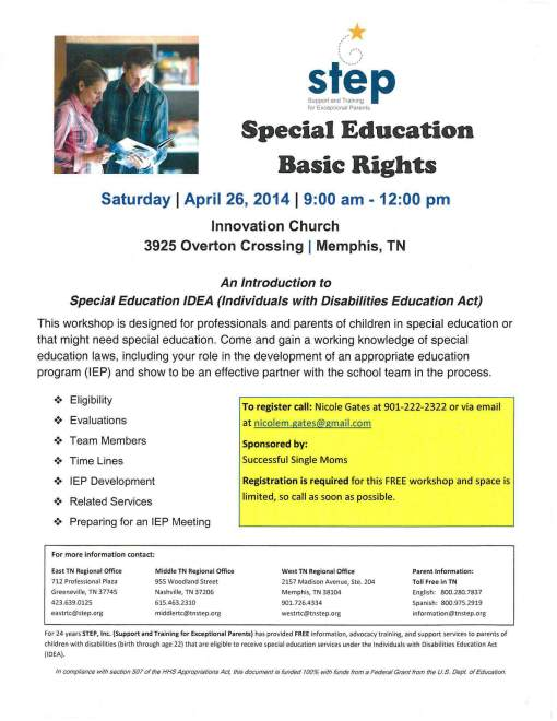 Special Education Basic Rights Workshop