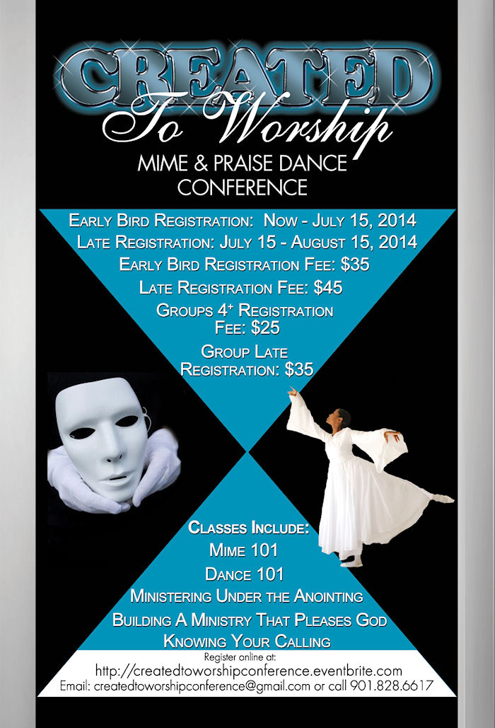 CREATED TO WORSHIP MIME AND PRAISE DANCE CONFERENCE   Lucy's Information Station Blog