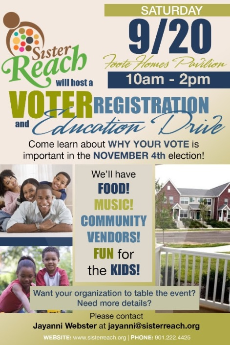 foote homes voter registration drive