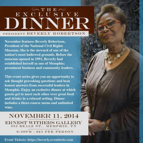 Exclusive Dinner with Beverly Robertson