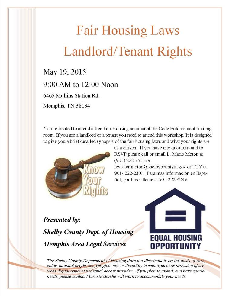 Fair Housing Seminar_Tenant Rights
