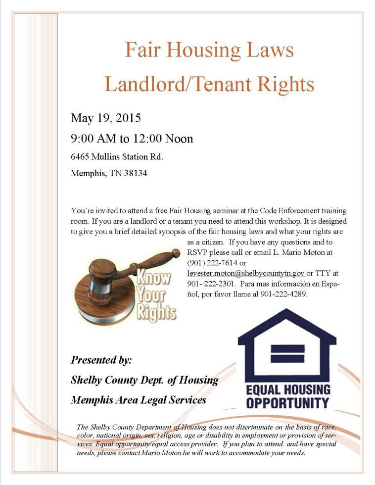 Fair Housing Seminar_Tenant Rights