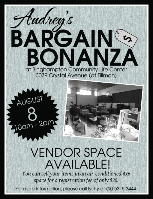 BCLC Yard Sale Flyer