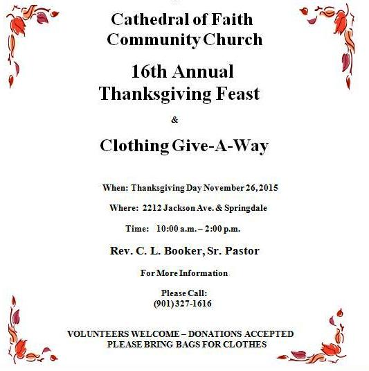 Cathedral of Faith Thanksgiving Giveaway
