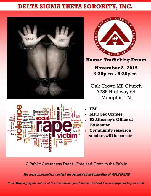 Human Trafficking Event Flyer
