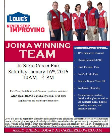 Lowes Job Fairs