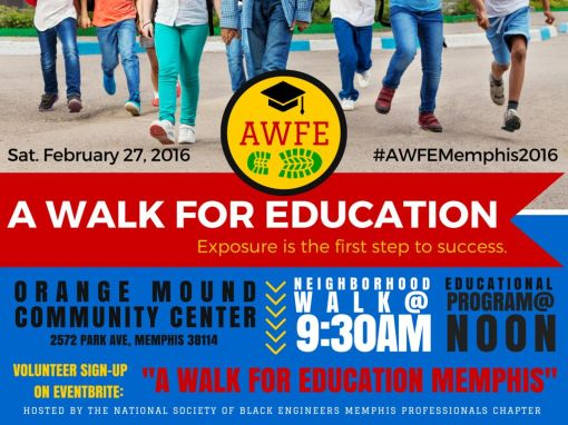 A Walk For Education Flyer