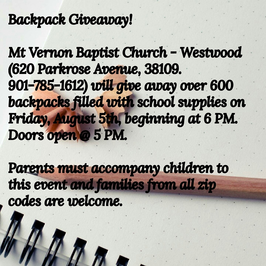 backpack giveaway local church