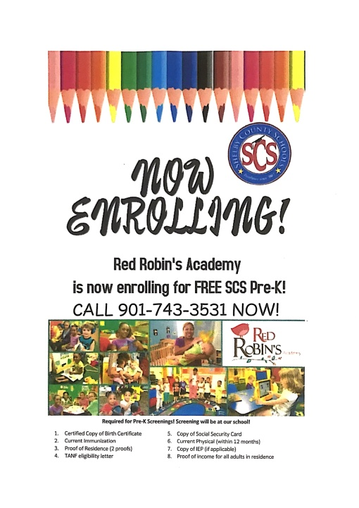 Red Robins Flyer